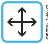 expand arrows blue and gray... | Shutterstock . vector #503379196
