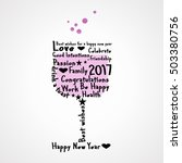background with glass to wish a ... | Shutterstock .eps vector #503380756