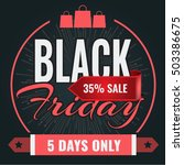 black friday sale inscription... | Shutterstock .eps vector #503386675