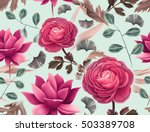 seamless tropical flower  plant ... | Shutterstock . vector #503389708