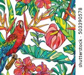 colorful seamless vector... | Shutterstock .eps vector #503390578