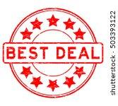 grunge red best deal rubber... | Shutterstock .eps vector #503393122