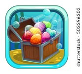 cartoon app icon with treasure...