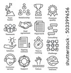 business management icons in... | Shutterstock . vector #503399656