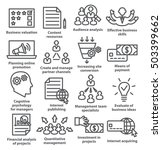 business management icons in... | Shutterstock . vector #503399662
