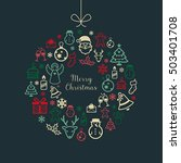 christmas greetings card with... | Shutterstock .eps vector #503401708