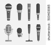 microphones vector set in a... | Shutterstock .eps vector #503403085