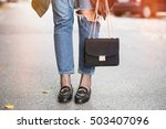 fall outfit fashion details ... | Shutterstock . vector #503407096