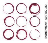 red wine stains. traces wine... | Shutterstock .eps vector #503407282