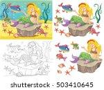 fairy tale. the mermaid. small...   Shutterstock . vector #503410645