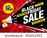 black friday sale banner.... | Shutterstock .eps vector #503412952