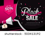 black friday sale banner.... | Shutterstock .eps vector #503413192