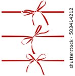 decorative red bows. vector bow ... | Shutterstock .eps vector #503414212