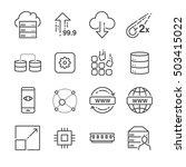 hosting and server related line ... | Shutterstock .eps vector #503415022