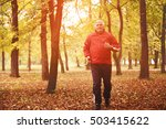 middle aged man running in the... | Shutterstock . vector #503415622