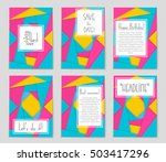 abstract vector layout... | Shutterstock .eps vector #503417296