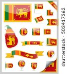 sri lanka flag set   vector... | Shutterstock .eps vector #503417362