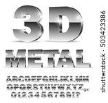 3d isometric alphabet vector... | Shutterstock .eps vector #503423386