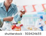 woman shopping at the... | Shutterstock . vector #503424655