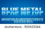 3d Alphabet Vector Blue Colore...