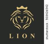 lion logo. lion head vector.... | Shutterstock .eps vector #503426542