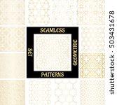 set golden arabic abstract... | Shutterstock .eps vector #503431678