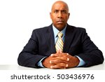 frustrated businessman waiting... | Shutterstock . vector #503436976