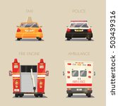 police  taxi  ambulance car and ... | Shutterstock .eps vector #503439316