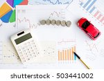 car expenses calculate with... | Shutterstock . vector #503441002