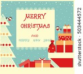 merry christmas background with ... | Shutterstock .eps vector #503444572