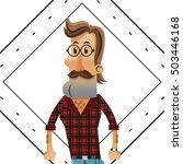 hipster man cartoon design   Shutterstock .eps vector #503446168
