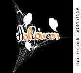 halloween  calligraphy... | Shutterstock .eps vector #503451556