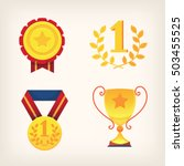 set of awards and trophies for... | Shutterstock .eps vector #503455525