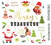 light colorful christmas... | Shutterstock .eps vector #503458282