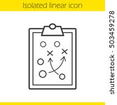 clipboard game plan linear icon.... | Shutterstock .eps vector #503459278