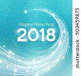 happy new year 2018  vector... | Shutterstock .eps vector #503459875