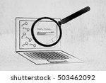 analysing and suggesting... | Shutterstock . vector #503462092