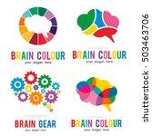 brain genius idea gear logo... | Shutterstock .eps vector #503463706