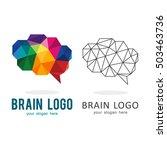 brain genius idea polygon logo... | Shutterstock .eps vector #503463736