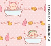 seamless pattern of funny... | Shutterstock .eps vector #503464696