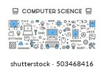 line web concept for computer... | Shutterstock .eps vector #503468416