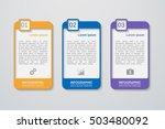 vector infographic template  | Shutterstock .eps vector #503480092