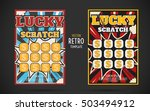scratch off lottery card retro... | Shutterstock .eps vector #503494912