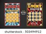 scratch off lottery card retro... | Shutterstock .eps vector #503494912