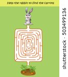 maze game  help the rabbit to... | Shutterstock .eps vector #503499136