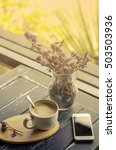 coffee morning to set mail on... | Shutterstock . vector #503503936
