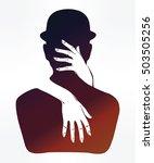 hand drawn beautiful silhouette ... | Shutterstock .eps vector #503505256
