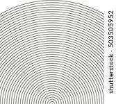 set arc   sonar  sector of... | Shutterstock .eps vector #503505952