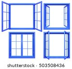 Collection Of Blue Window...