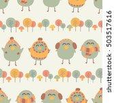 seamless pattern of lovely... | Shutterstock .eps vector #503517616